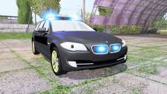 BMW 530d Touring (F11) undercover police для Farming Simulator 2017