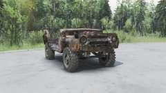 УАЗ 469 ржавый v1.2 для Spin Tires
