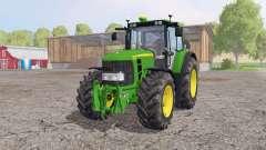 John Deere 6930 Premium green yellow 4x4 для Farming Simulator 2015
