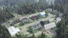 Окраина поселка Лысый Торгаш для Spin Tires