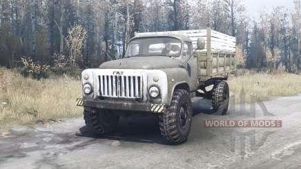 ГАЗ 53 4x4 зелёный для MudRunner