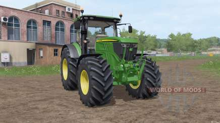 John Deere 6215R v3.2 для Farming Simulator 2017