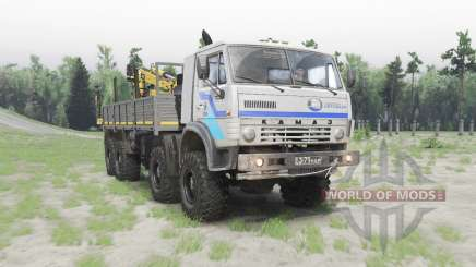 КамАЗ 63501 Мустанг белый для Spin Tires