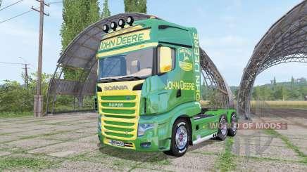 Scania R700 Evo John Deere v1.1 для Farming Simulator 2017