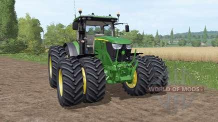 John Deere 6195R v3.1 для Farming Simulator 2017