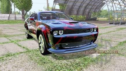 Dodge Challenger SRT Hellcat (LC) Red Neon для Farming Simulator 2017