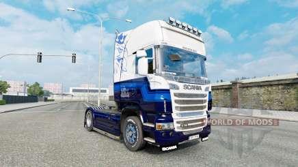 Скин Blue V8 на тягач Scania R-series для Euro Truck Simulator 2