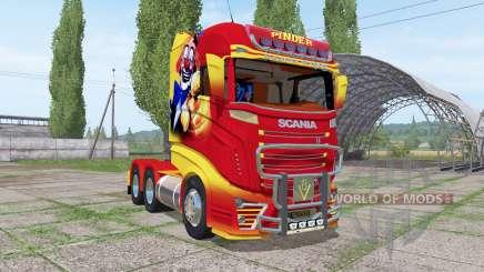 Scania R1000 Pinder для Farming Simulator 2017