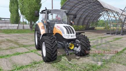 Steyr Multi 4115 orange для Farming Simulator 2017