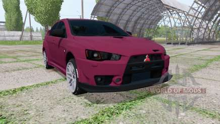 Mitsubishi Lancer Evolution X FQ-400 2009 v1.1 для Farming Simulator 2017