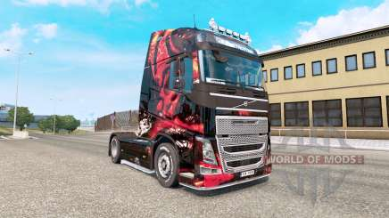 Скин MSI Gaming на тягач Volvo FH-series для Euro Truck Simulator 2
