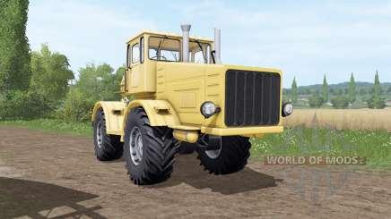 Кировец К 700 жёлтый для Farming Simulator 2017