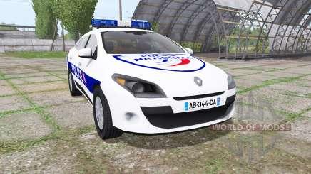 Renault Megane Estate 2009 Police Nationale для Farming Simulator 2017