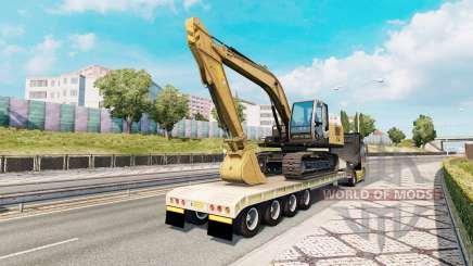 Trailer with construction equipment для Euro Truck Simulator 2
