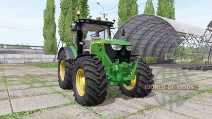 John Deere 6195R v2.1.2 для Farming Simulator 2017