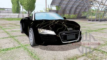 Audi R8 V10 Spyder 2012 Black Rift для Farming Simulator 2017