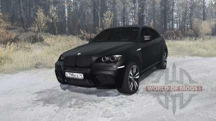 BMW X6 M black для MudRunner