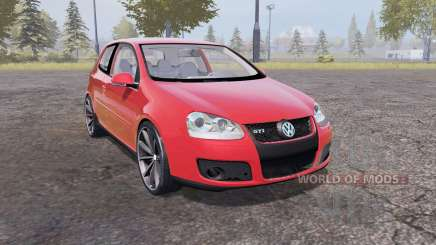 Volkswagen Golf GTI 3-door (Typ 1K) 2004 red для Farming Simulator 2013