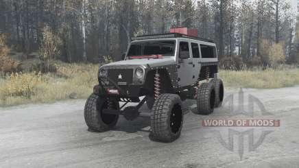 Jeep Wrangler Unlimited 6x6 (JK) crawler для MudRunner
