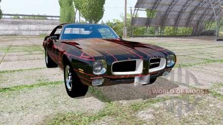 Pontiac Firebird 1970 Cyber Red для Farming Simulator 2017