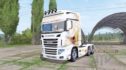 Scania R700 Evo Gold Blanc v1.1 для Farming Simulator 2017