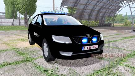 Skoda Octavia (5E) 2013 Belgian Police для Farming Simulator 2017