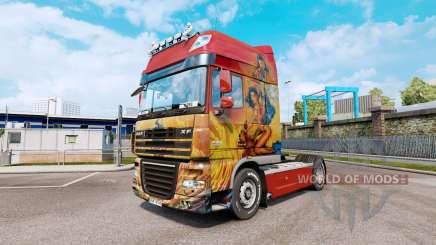Скин Fathom на тягач DAF XF105.510 для Euro Truck Simulator 2
