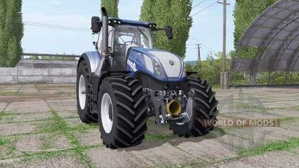 New Holland T7.315 BluePower v1.1 для Farming Simulator 2017