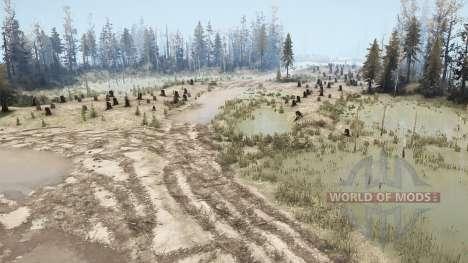 Swamp Felling для Spintires MudRunner