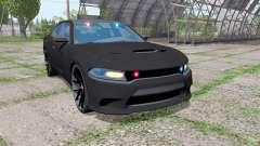 Dodge Charger SRT Hellcat 2015 Unmarked Police для Farming Simulator 2017