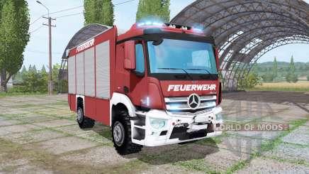 Mercedes-Benz Antos Feuerwehr для Farming Simulator 2017