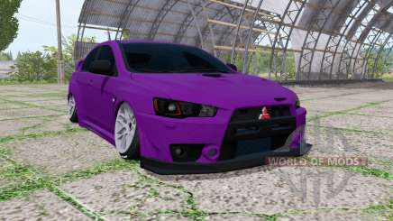 Mitsubishi Lancer Evolution X FQ-400 2009 stance для Farming Simulator 2017