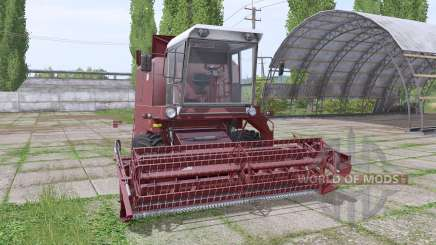 Bizon Z056 Super maroon для Farming Simulator 2017