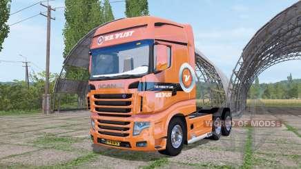 Scania R700 Evo V.D.Vlist v3.0 для Farming Simulator 2017