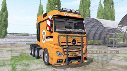 Mercedes-Benz Actros SLT (MP4) 2013 V.D.Vlist для Farming Simulator 2017