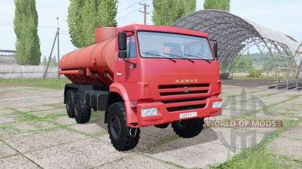 КАМАЗ 43118-46 Огнеопасно v1.2 для Farming Simulator 2017