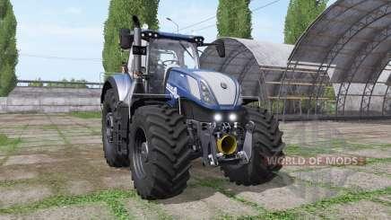 New Holland T7.315 by Rick Black Labele для Farming Simulator 2017