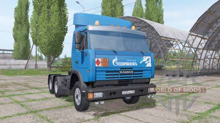 КАМАЗ 54115 Газпром нефть v1.2 для Farming Simulator 2017