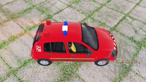 Renault Clio 2003 Pompier для Farming Simulator 2017