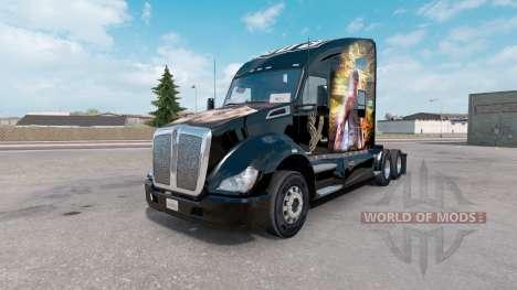 Скин Sleeping Dogs на тягач Kenworth T680 для American Truck Simulator