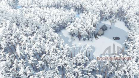Зима в тайге для Spin Tires
