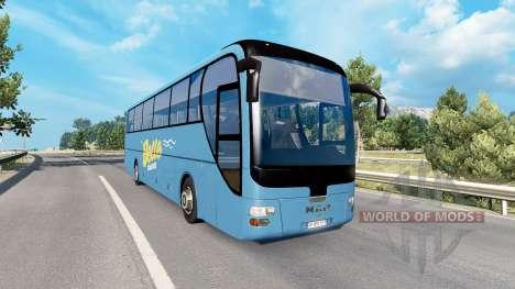 Bus traffic v4.1 для Euro Truck Simulator 2