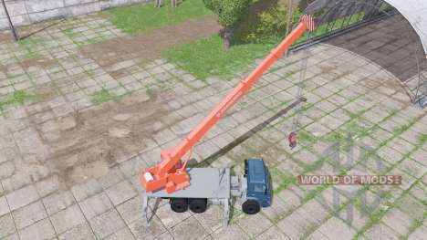 КАМАЗ 65222 2009 кран для Farming Simulator 2017