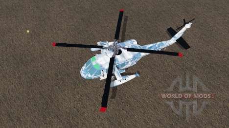 Sikorsky UH-60L Black Hawk winter camo для Farming Simulator 2017