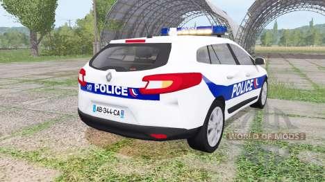 Renault Megane Estate 2009 Police Nationale v2.0 для Farming Simulator 2017