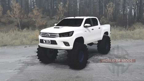 Toyota Hilux Double Cab 2016 для Spintires MudRunner