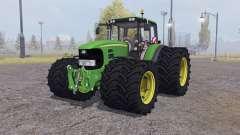 John Deere 7530 Premium twin wheels для Farming Simulator 2013