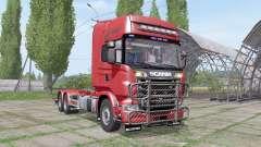 Scania R730 V8 Topline hooklift v1.0.4.3 для Farming Simulator 2017