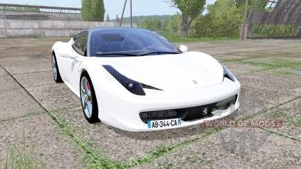 Ferrari 458 Italia Pininfarina для Farming Simulator 2017