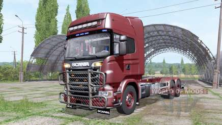 Scania R730 V8 Topline hooklift v1.0.4.4 для Farming Simulator 2017